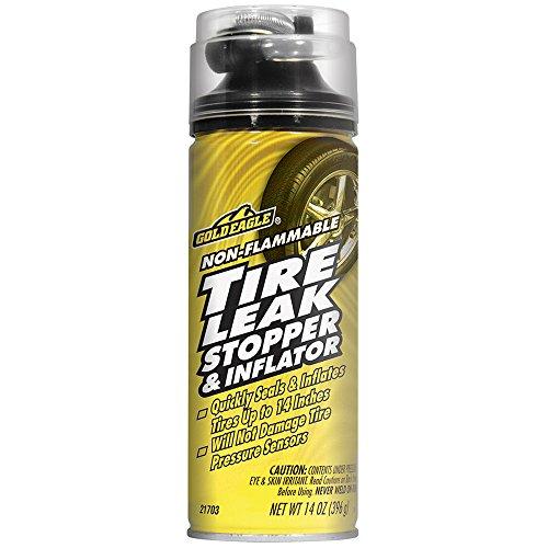 Gold Eagle 21703 Non-Flammable Tire Leak Stopper and Inflator - 14 av. oz. ()