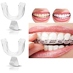 Bhbuy 4pcs Silicone Night Mouth Guard for Teeth Clenching Grinding Dental Bite Sleep Aid