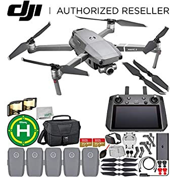 DJI Mavic 2 Zoom Drone Quadcopter with 24-48mm Optical Zoom Camera with Smart Controller Must-Have 5-Battery Bundle 1