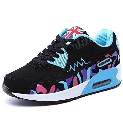 No.66 Town Women's Athletic Air Casual Walking Running Tennis Shoes Fashion Sneaker Size 6 Blue