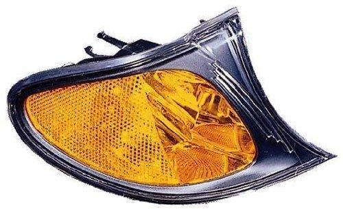 HEADLIGHTSDEPOT Compatible with BMW 3-Series Park Passenger Side Black Corner Light New
