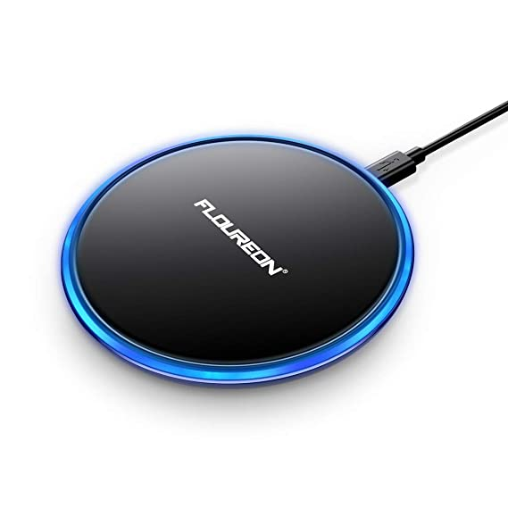 Wireless Charger Fast Charger,FLOUREON Qi-Certified Ultra-Slim Fast Charge Wireless Charger
