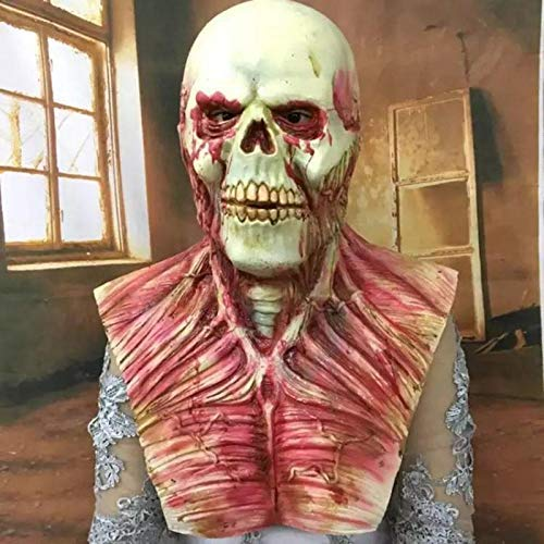 Scary Devil Zombie Mask Halloween Cosplay Party Horror Monster Skull Latex Fancy Skeleton Prop Toy - Zombie Mask Halloween