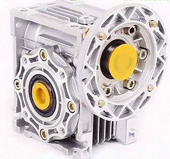 Fevas NMRV040 Worm Reducer 7.5:1-100 1 Ratio 11mm 14mm Input Shaft RV40 Worm Gearbox Speed Reducer