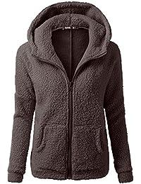 Clearance! sfe Women Winter Faux Fur Hoodie Cotton Jacket Fashion Solid Color Warm Coat Down Jacket
