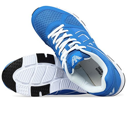 Entrenadores Diseño Deportivo A651917 Armani Aj Varonil Azure Blue