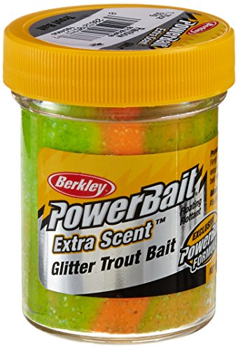 Berkley PowerBait Glitter Trout Bait, Rainbow, 1.75 Ounces ()
