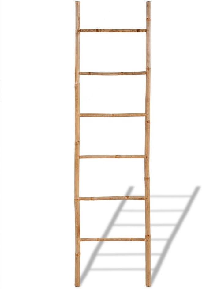 Anself Toallero de Bambú en Escalera Con 6 Peldaños: Amazon.es: Electrónica