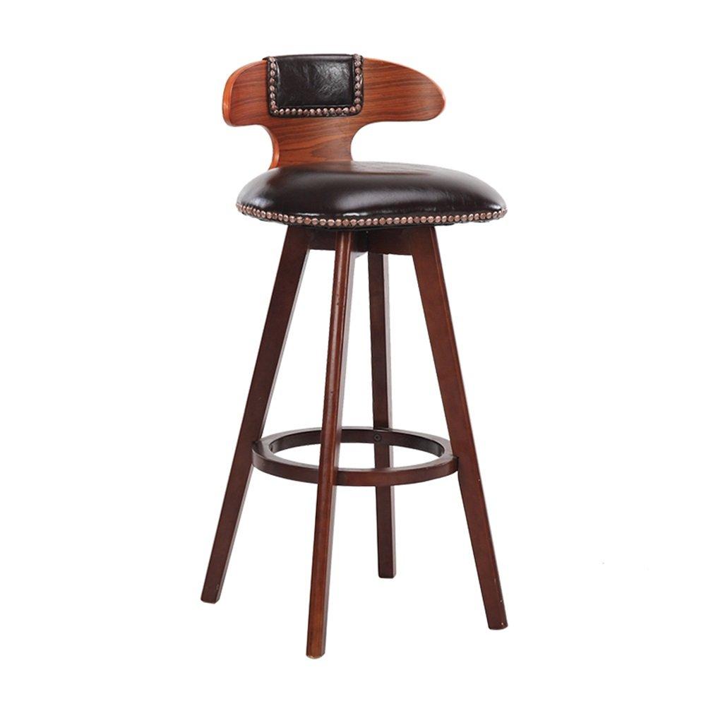 ZRX-カウンターチェア 高級ソリッドウッドバーチェアキッチン朝食椅子/ハイダイニングチェアレトロバースツール/背の高いスツール (色 : #1, サイズ さいず : 42×42×60cm) B07F3M1TQM 42×42×60cm|#1 #1 42×42×60cm