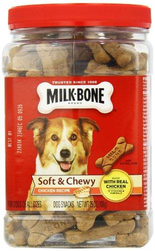 Milk-Bone Soft and Chewy Chicken Bones Treats For Dogs (25 oz)