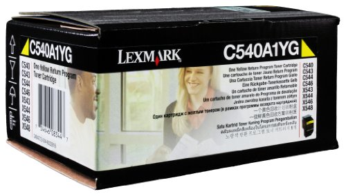 Lexmark C540A1YG C54X/X543/X544 Return Program Yellow Toner Cartridge