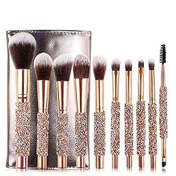 Amazon.com: Juego de 10 brochas de maquillaje de lujo ...