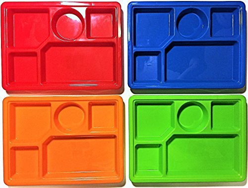 Sectional Plate - Sectional trays set of 4.
