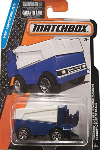 Price comparison product image Matchbox 2016 MBX Adventure City Zamboni Ice Resurfacing Machine 7/125, Blue