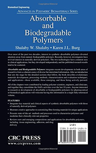 Absorbable and Biodegradable Polymers Advances in Polymeric ...