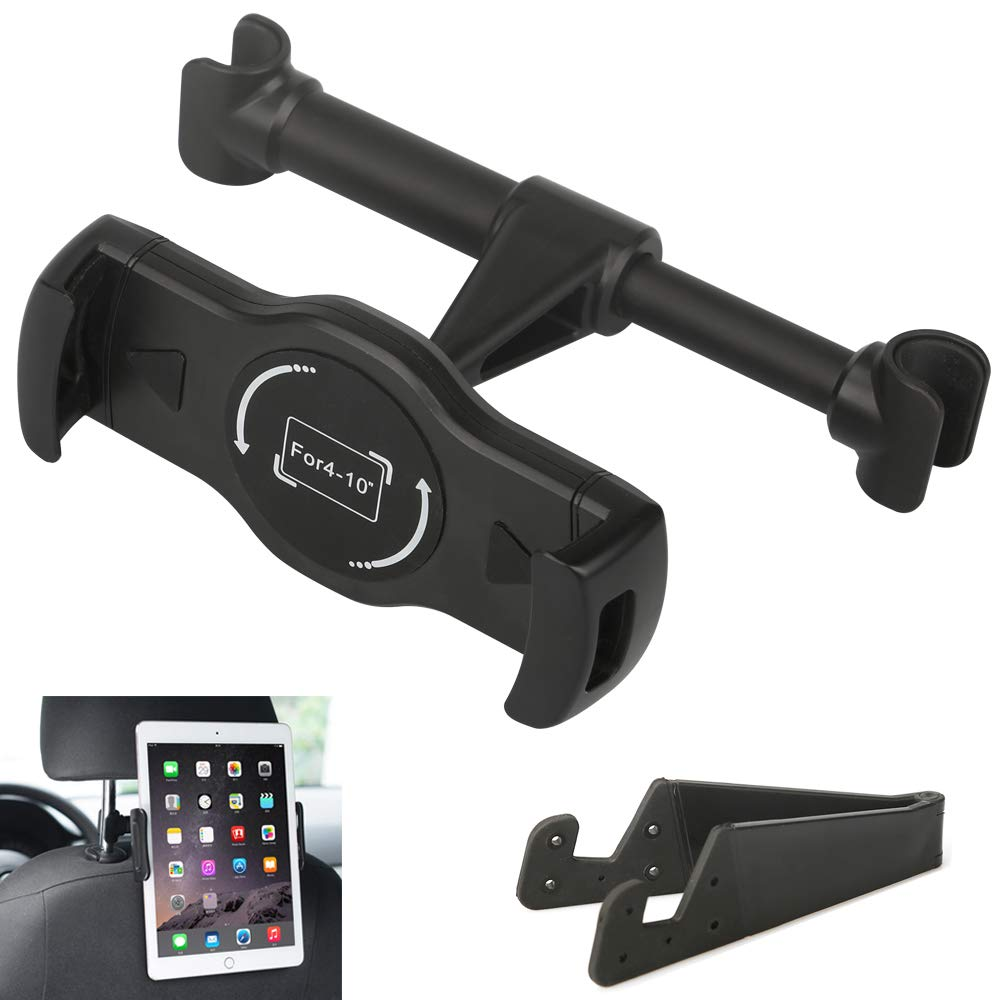 Kindle Fire 7 8 HD and Other 4-10 Smartphones Car Headrest Mount Holder Phone Tablet Holder Stand Cradle for iPad Mini 2 3 4 Samsung Galaxy Tab iPad Pro Air Mini iPhone X 8 8 Plus 7 7 Plus 6s