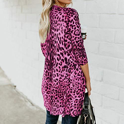 Leopard Top Elegante Tank Piumino Morwind Hot T Parka Pink Print Bllouse Giubbotto Lunga Lungo Invernale Donna Manica Cappotto Nero Fashion shirt qqwUtTP