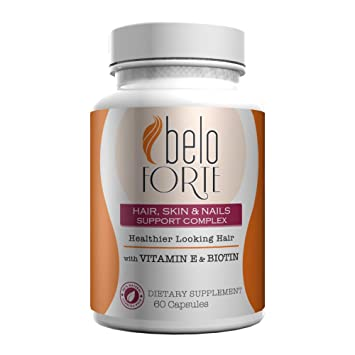 Beloforte Hair Skin & Nails Support Complex 60 capsules - Vitamins for Stronger Hair - Vitaminas