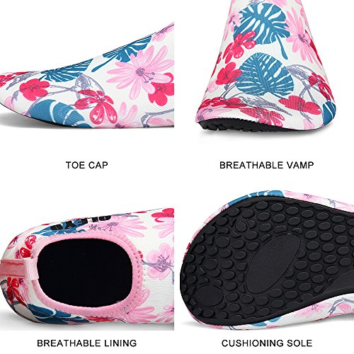 for QLEYO Yoga Water Shoes Dry Women for Shoes Barefoot and Quick surf Swim Water Style24 Beach Shoes Men Skin Shoes XqXTwdWr