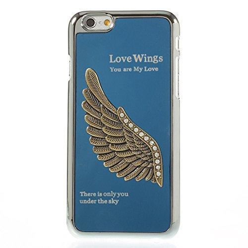 Apple iPhone 6étui rigide en plastique Housse Amour ailes Bleu decui Bleu Plastique rigide Coque
