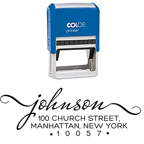 Personalized Return Address Stamp Self Inking Custom Rubber Stamper Johnson Colop By Printtoo (Return Labels For My Orders)