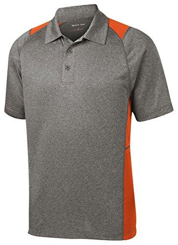Sport-Tek -  Polo  - Uomo Vintage Heather/ Deep Orange X-Large