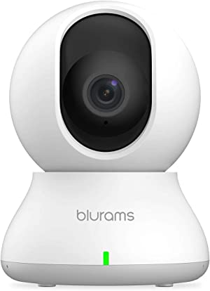Security Camera 2K, blurams WiFi Camera Nanny Cam Pet Camera w/ Two-Way Audio, Sound/Person Detection, Night Vision, Siren, Cloud&Local Storage, Works with Alexa & Google Assistant & IFTTT & Siri
