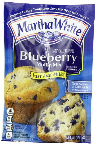 Martha White Blueberry Flavored Muffin Mix, 7-Ounce (Pack of 12) (Martha White Muffins)