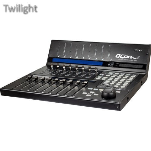 Icon Pro Audio QCon Pro X - USB MIDI Controller Station with Motorized Faders by Twilight
