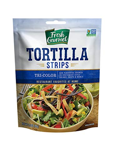 - Fresh Gourmet Tortilla Strips, Tri- Color, 9 pk of 3.5 oz