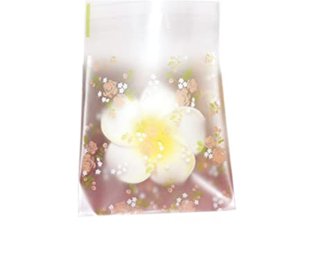 100 paquetes Floral flor autoadhesivas para galletas Candy ...
