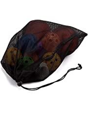 """GSE Games & Sports Expert 18"""" x 12"""" Heavy-Duty Mesh Drawstring Bag (7 Colors Available)"""