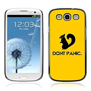 YOYOSHOP [Funny Don't Panic Squirrel] Samsung Galaxy S3 Case