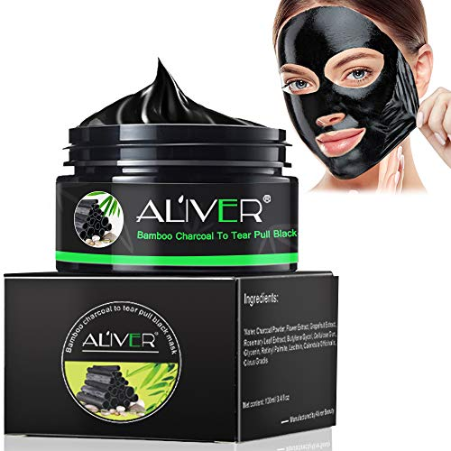 Blackhead Remover Mask, Peel Off Blackhead Mask, Blackhead Remover - Deep Cleansing Black Mask, Bamboo Activated Charcoal Peel-Off Mask