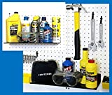 WallPeg Metal Shelves mount to wall or pegboard panel - Garage Storage 16'' wide (2)