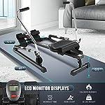 ANCHEER-Vogatore-da-fitness-idraulico-Vogatore-per-Casa-semplice-12-livelli-di-resistenza-Cuscino-in-PU-resistente-allusura-e-Display-digitale-Carico-massimo-220Ibs-Nero