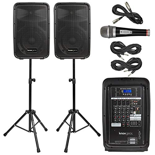 Knox Dual Speaker and Mixer Kit - Portable 8