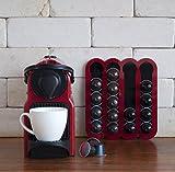 Red coffee pod holder Capsules Holder Holds 20 Nespresso Pods storage