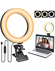 """Video Conference Lighting Kit, 6.3"""" LED Selfie Ring Light with Clips for Laptop Computer, Desk Ring Light Zoom Webcam Light Clip on Lighting for Video Recording, Youtube, Zoom Meeting, Live Streaming, Remote Working, Photography, Make Up, TikTok,Streaming Lighting"""