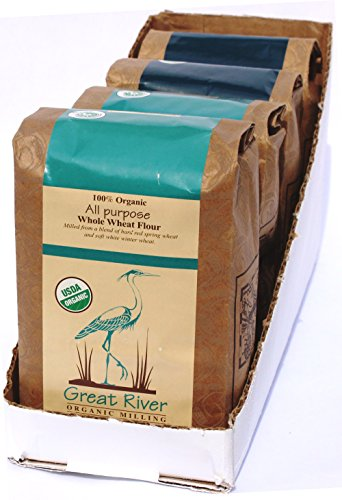 Great River Organic Milling, Bread Flour Blend, All Purpose Whole Wheat, Stone Ground, Organic, 2-Pounds (Pack of