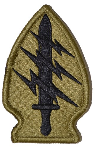 (Special Forces Group (Airborne) Multicam OCP Scorpion Camo Hook Fastener Patch Made in USA)