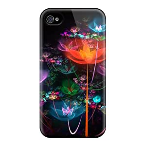 Iphone 4/4s Cover Case - Eco-friendly Packaging(fractal Garden)