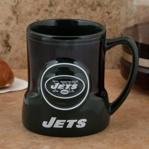 - Boelter Brands NFL New York Jets 472926 Coffee Mug, Team Color, 18 oz