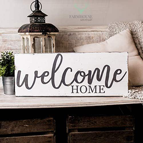 Amazon.com: Welcome Home Sign | Rustic Signs | Rustic Home ...