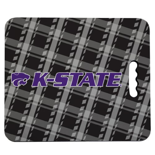 VictoryStore Outdoor Seat Cushions - Kansas State University Stadium Seat Cushion - Plaid Design