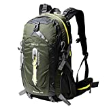 Cheap Duhud 50L Hiking Backpack Travel Daypack Internal Frame Trekking Bag with Rain Cover for Outdoor Sports Climbing Camping Mountaineering Backpacking 33601(Army Green)