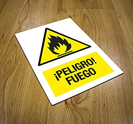 CARTEL PELIGRO FUEGO | ADVERTENCIA PELIGRO FUEGO ...