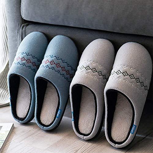 Chaud Bas SFHK Coton Confortable Ultra Intérieur Corail Chaussons Antidérapant Chaussures Garder Doux Épais Hiver Toison Blue Unisexe wgwqczp0