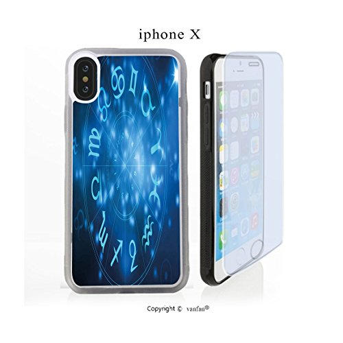 iPhone X Case, vanfan iphone X/10 Case-eel with Signs Aquarius Lion Taurus Libra Na(transparence) Design Hard PC Back Protective Cover Skin Case For Apple iphone X-iPhone X Screen Protector Gift (Eel Cell Skin Case Phone)