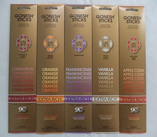 Gonesh Incense CHRISTMAS HOLIDAY Best Seller Variety Set #1 5 x 20 = 100 - Orange Incense Sticks
